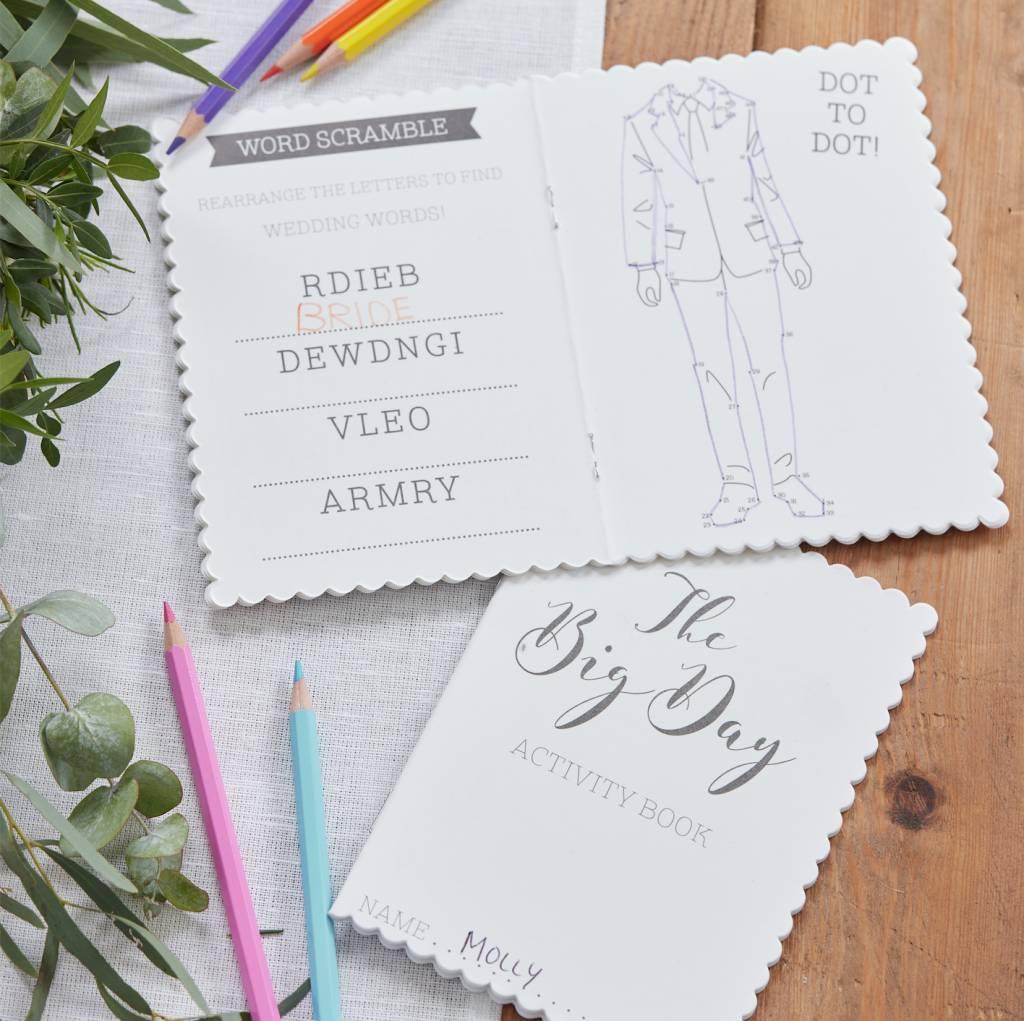 GINGERRAY Children's Wedding Activity Books