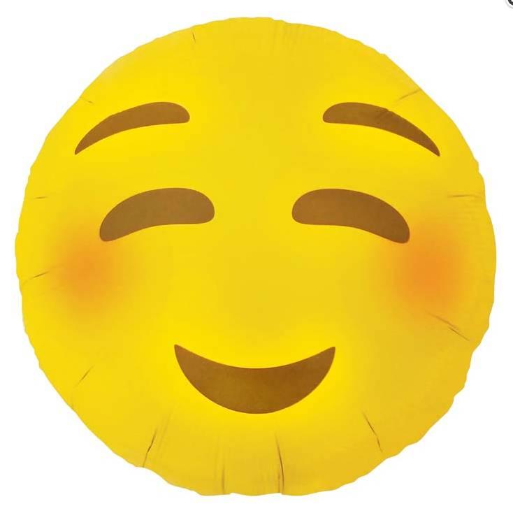 """SMP emoji blushing 18"""" (46 cm)"""