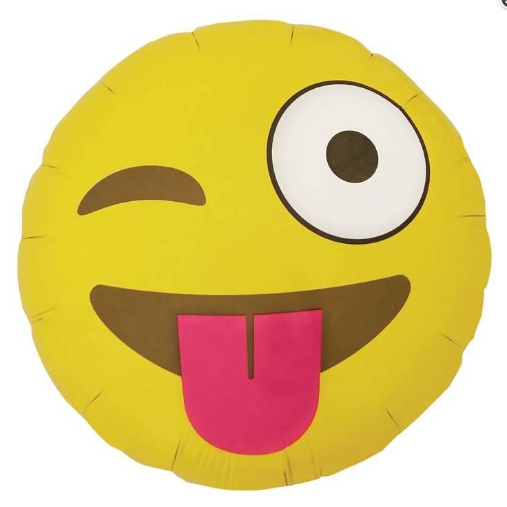 """SMP emoji winking 18"""" (46 cm)"""