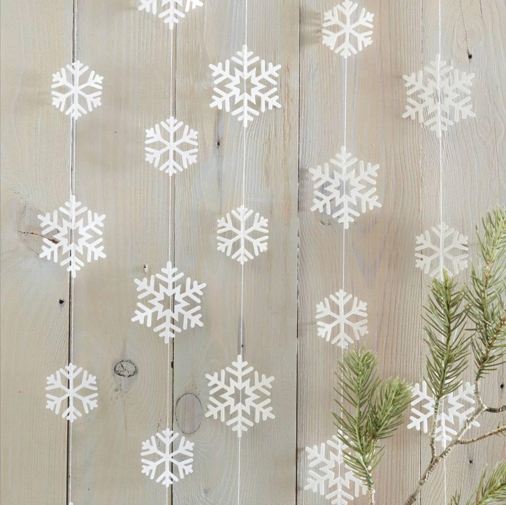 GINGERRAY Snowflake Shaped Garland