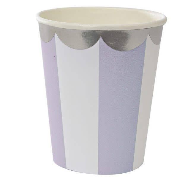 MERIMERI Lavender stripe party cups