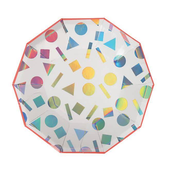 MERIMERI Small rainbow confetti plates