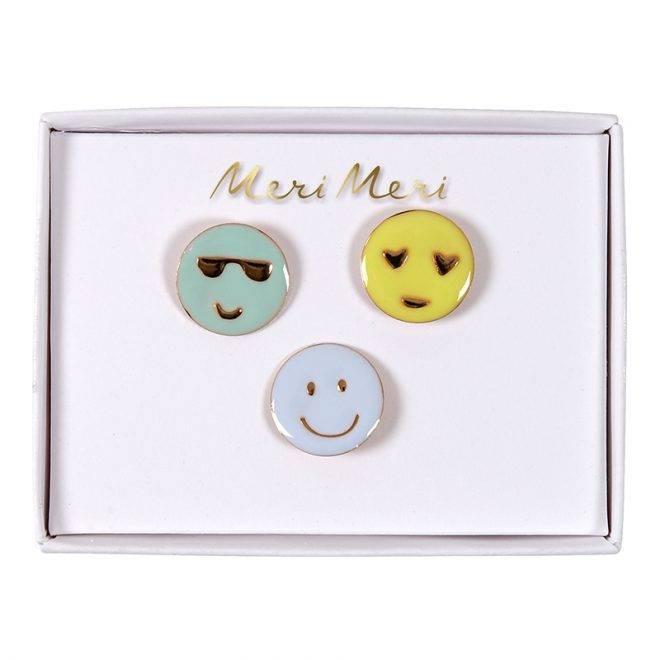 MERIMERI Emoji enamel pins