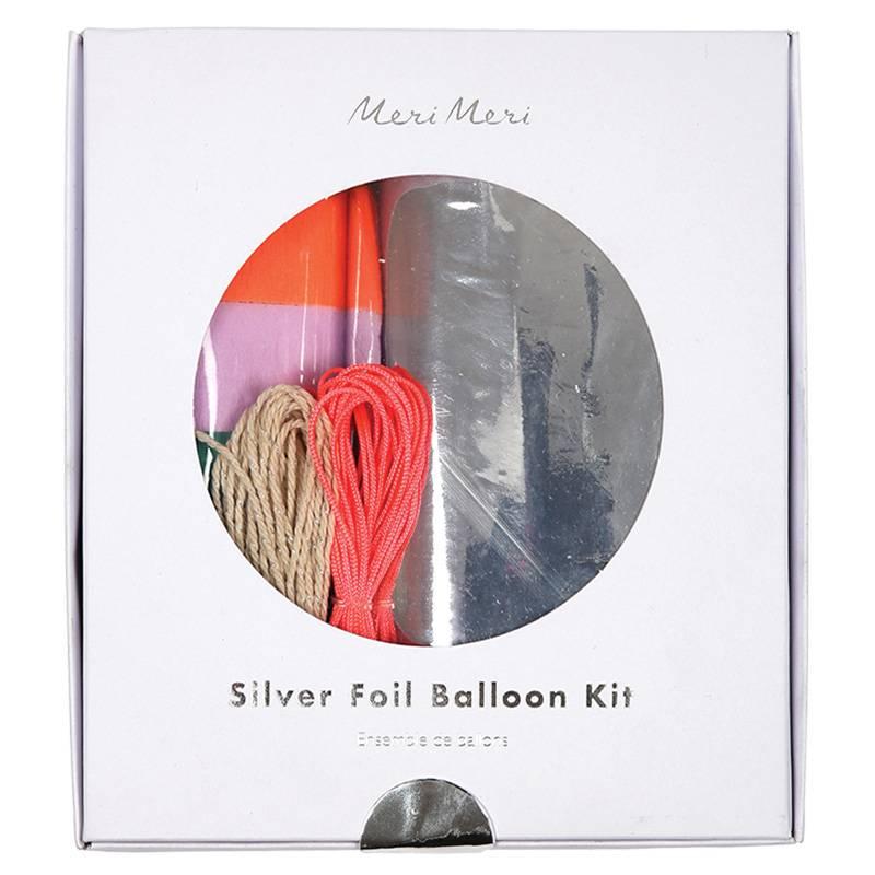 MERIMERI silver foil balloon kit