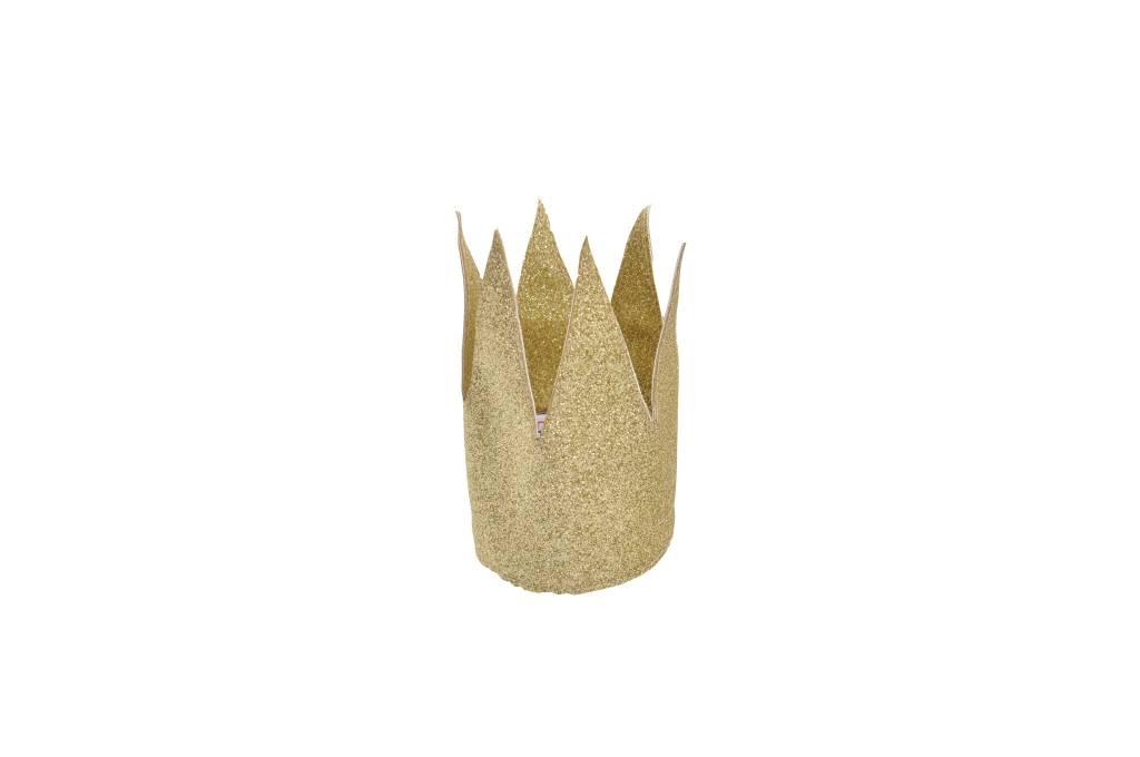 MOUCHE gold mini crown glitter