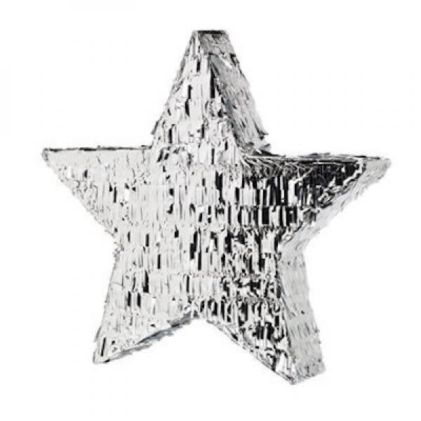 FT pinata silver star 45 cm.