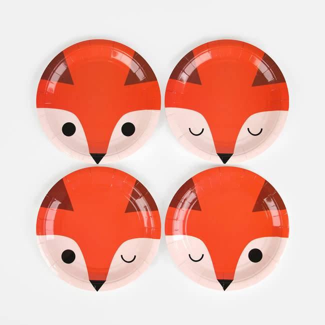 MY LITTLE DAY paper plates mini fox