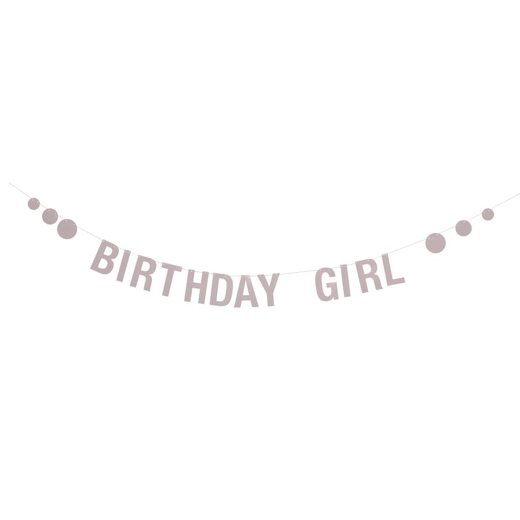 BLOOMINGVILLE birthday girl pink paper garland
