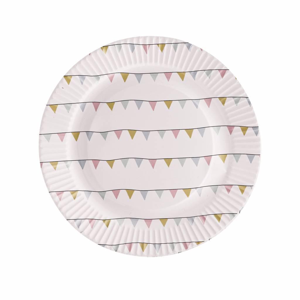 BLOOMINGVILLE paper plate pastel garland 8x