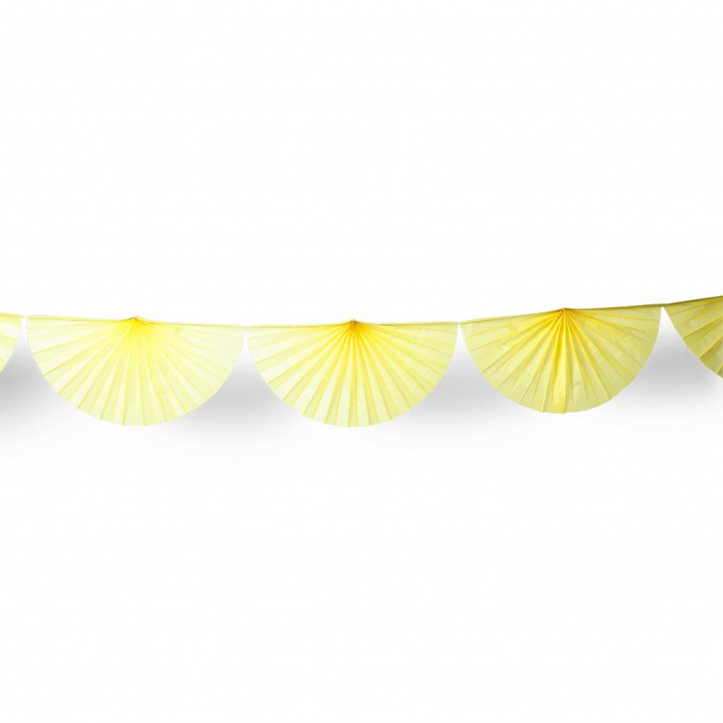AF paper fan garland yellow 3 m