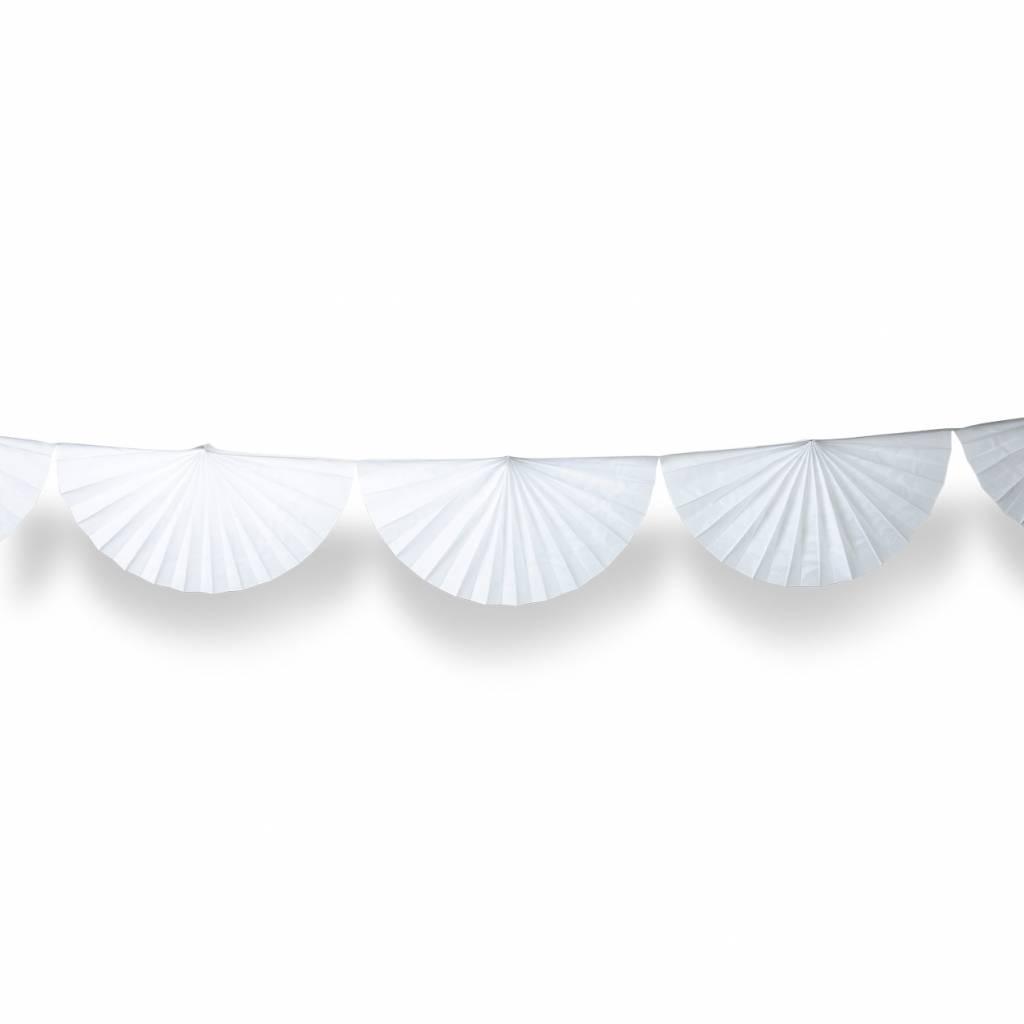 AF paper fan garland white 3 m