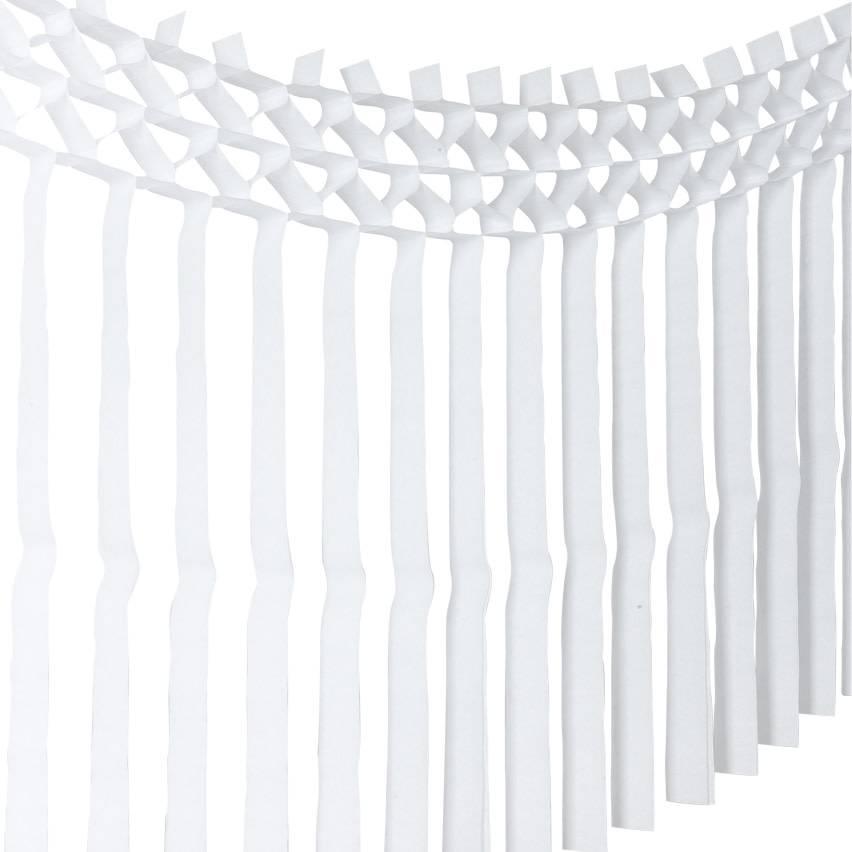 AF paper fringe garland white 3 m x 70 cm