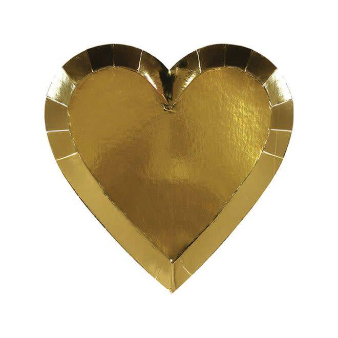 MERIMERI Gold heart plates small