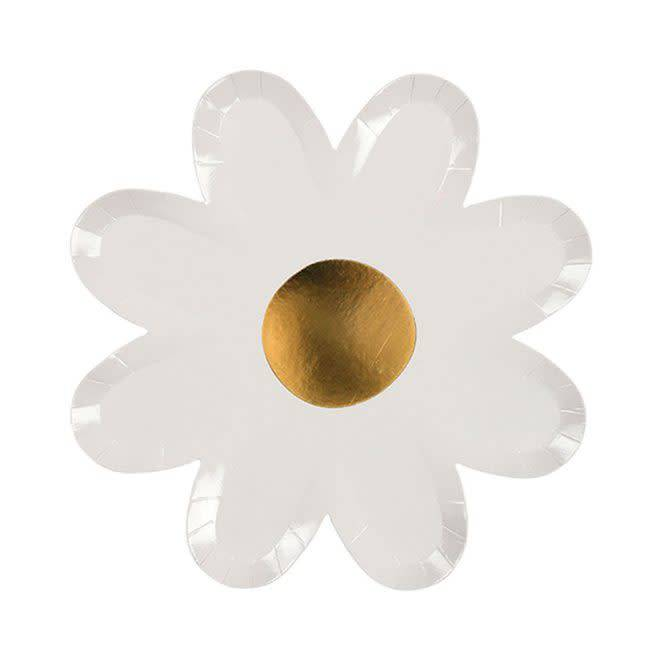 MERIMERI White daisy plates
