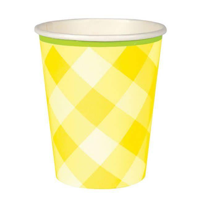 MERIMERI Yellow gingham cups