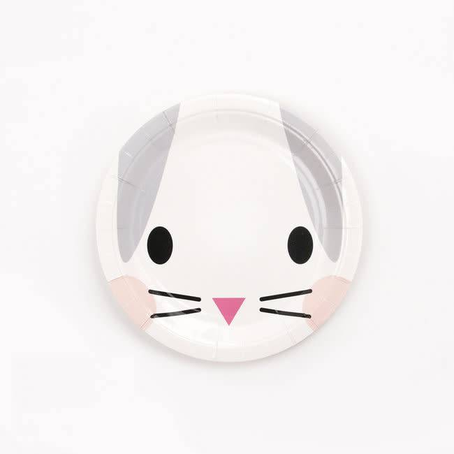 MY LITTLE DAY 8 paper plates bunny