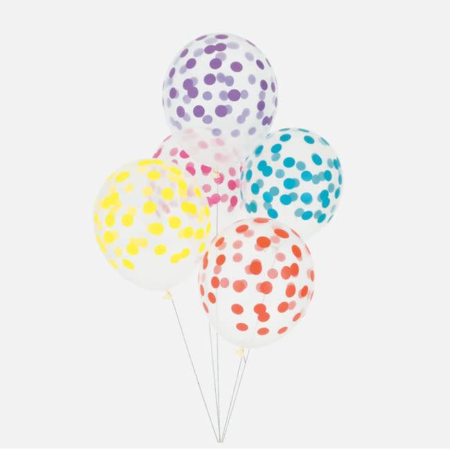MY LITTLE DAY 5 multi color printed confetti balloons