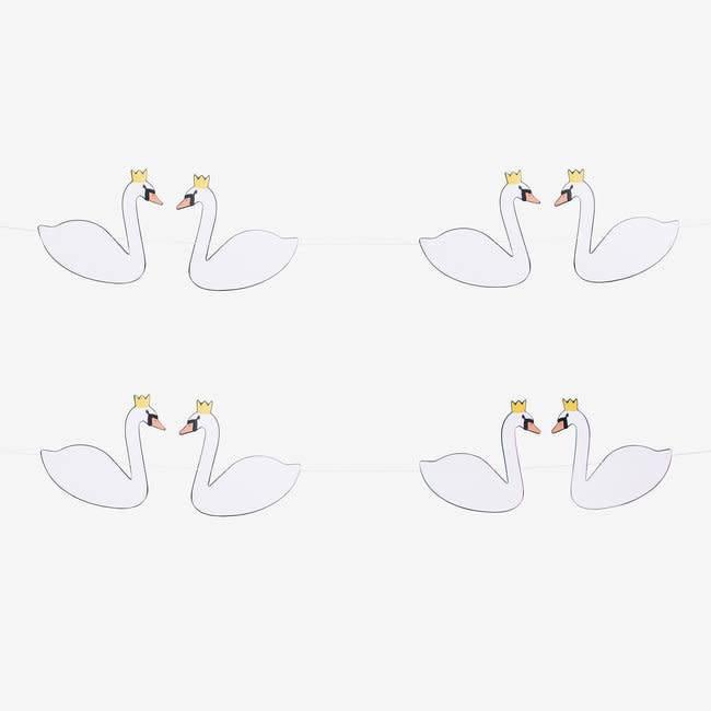 MY LITTLE DAY paper garland swan
