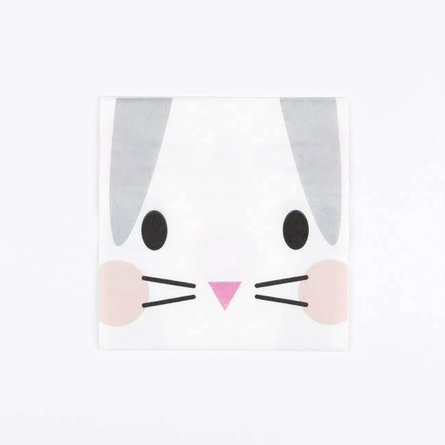 MY LITTLE DAY 20 mini bunny paper napkins