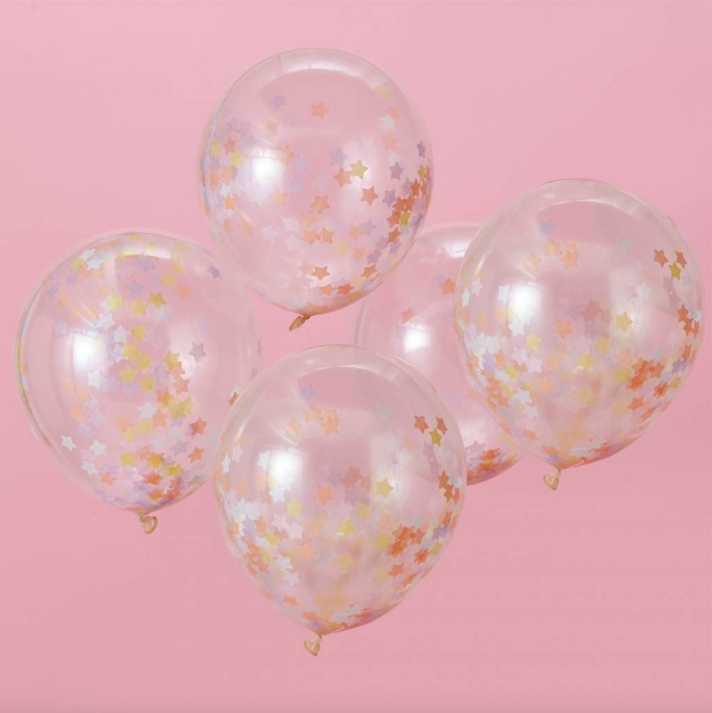 GINGERRAY star confetti balloons - make a wish