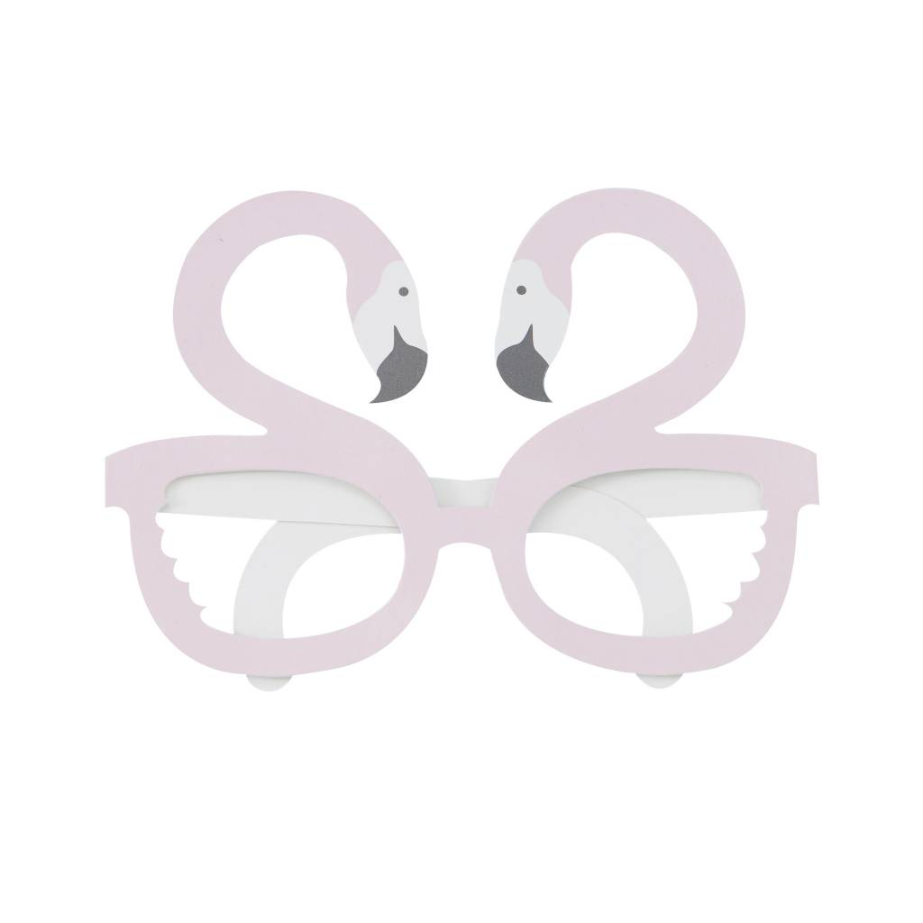GINGERRAY flamingo shaped fun glasses - good vibes