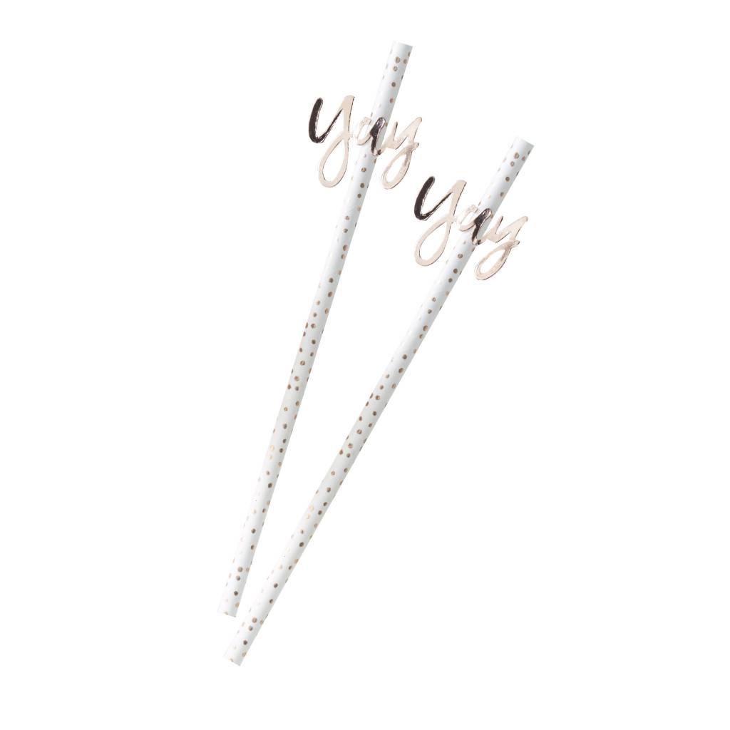 GINGERRAY rose gold yay! paper straws - pick & mix