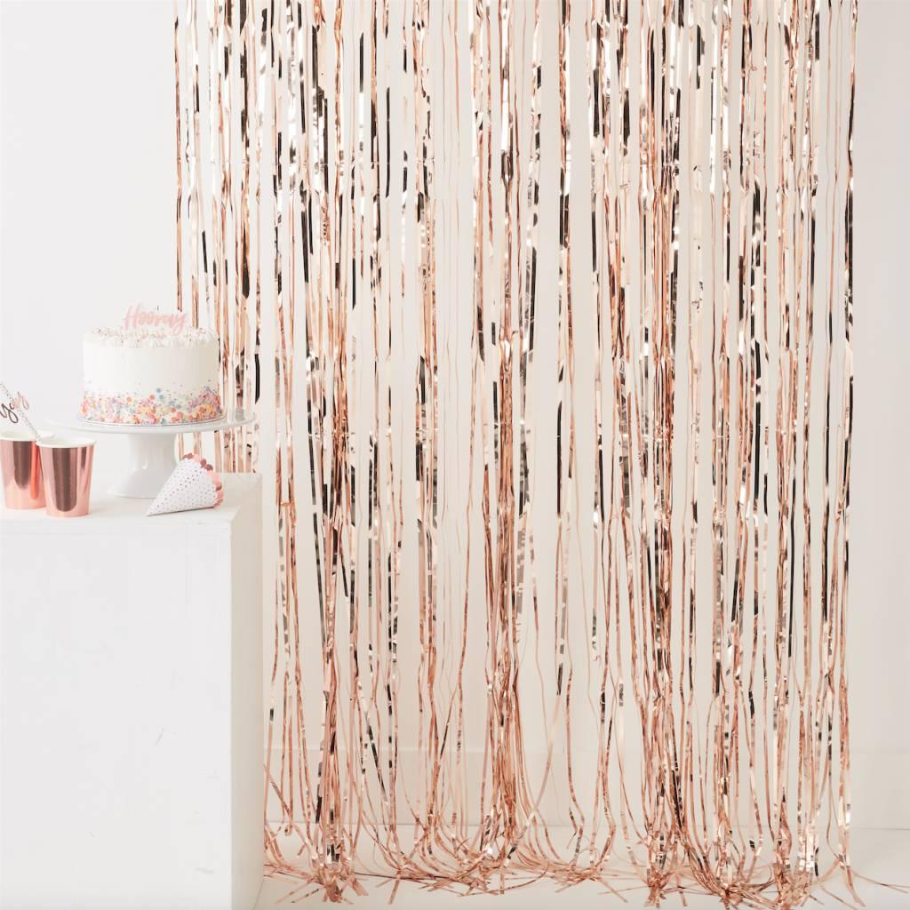 FT rose gold fringe curtain - pick & mix