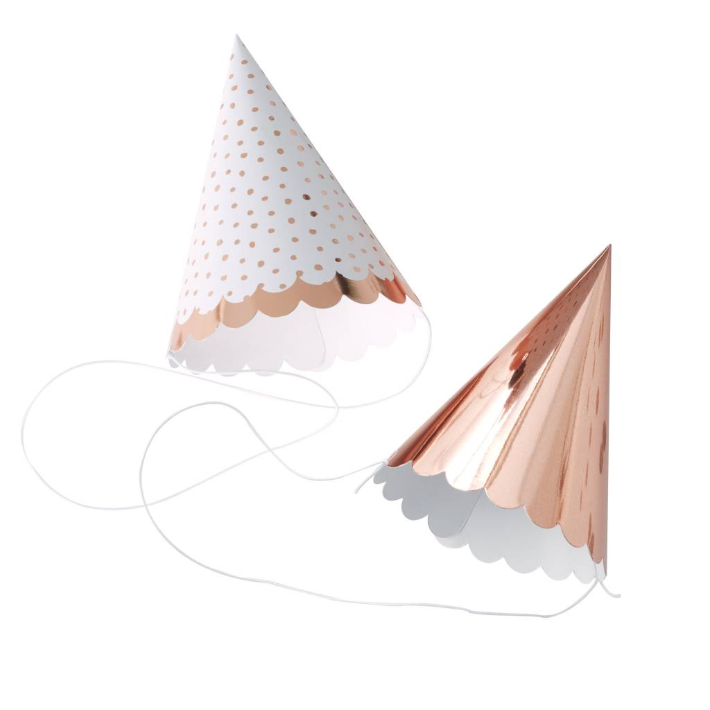 GINGERRAY rose gold foiled party hats - pick & mix