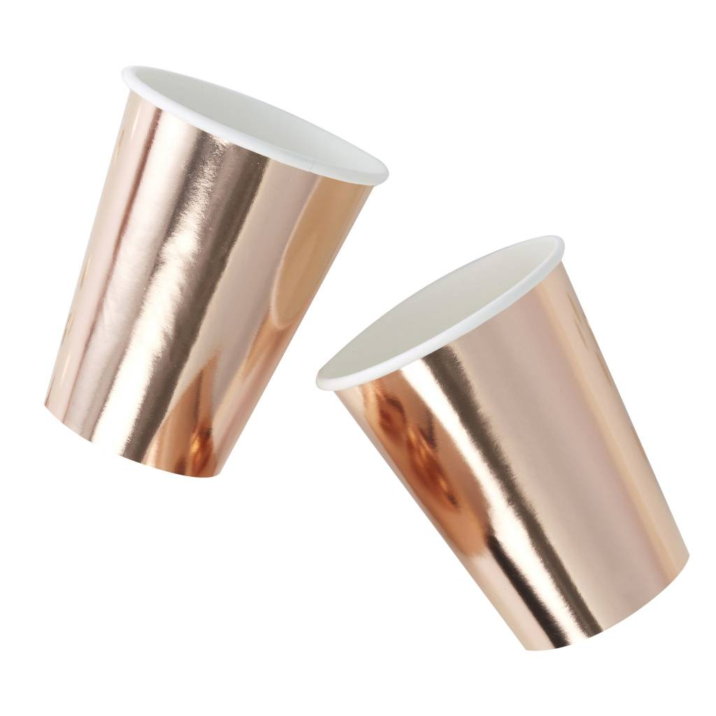 GINGERRAY rose gold foiled paper cups - pick & mix