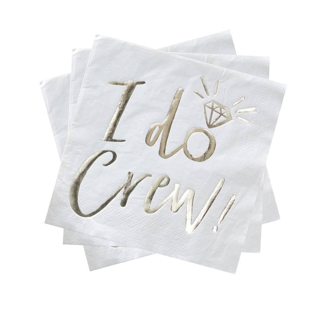 GINGERRAY gold foiled I do crew foiled paper napkins - I do crew