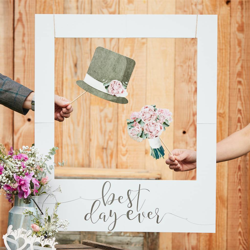 GINGERRAY best day ever polaroid sign - rustic country
