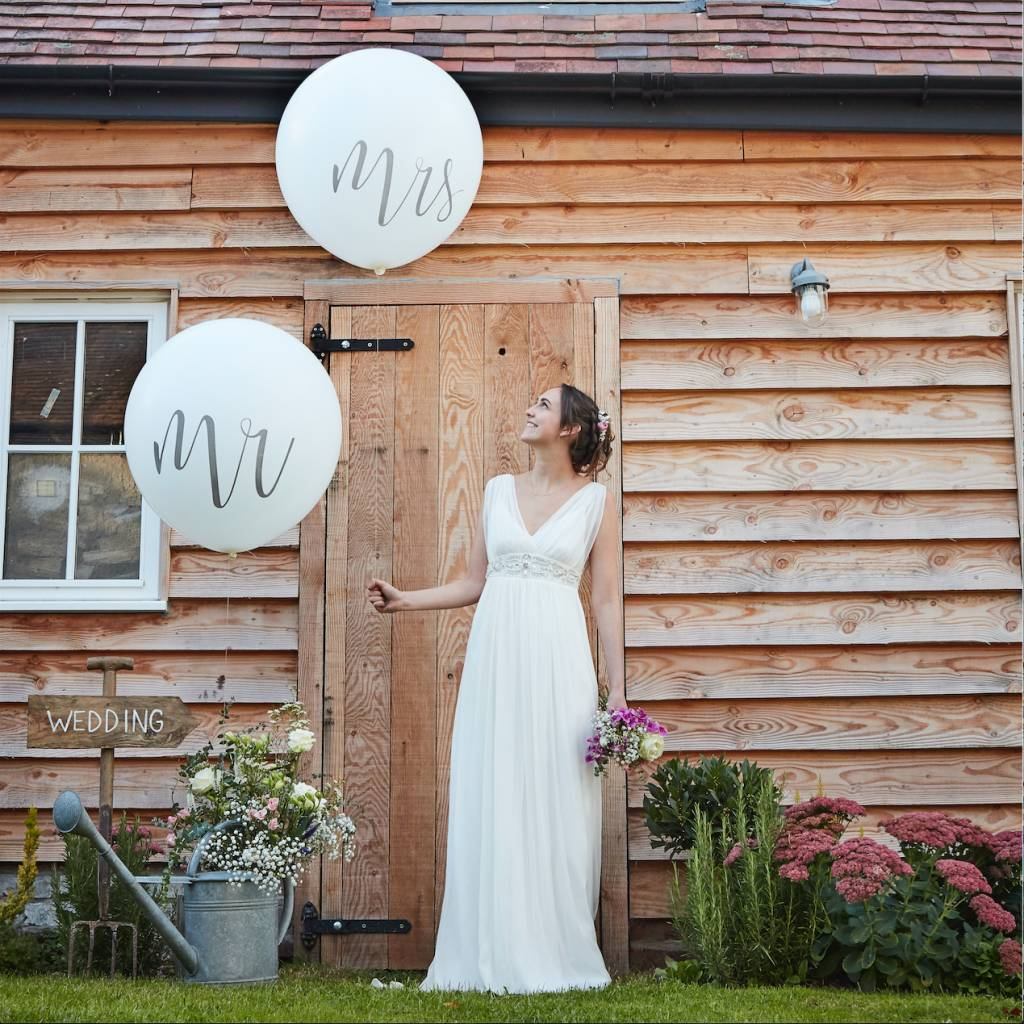 GINGERRAY huge mr and mrs balloons - rustic country
