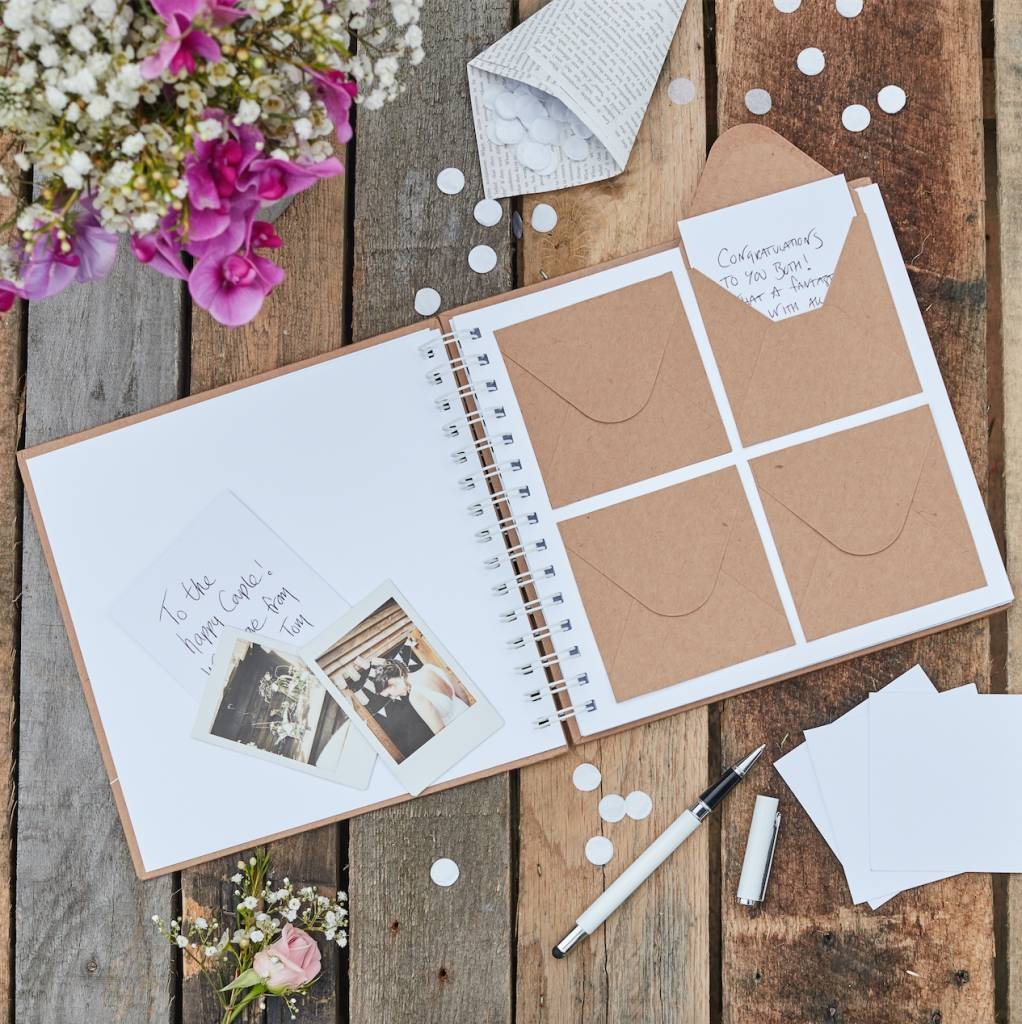 GINGERRAY envelope guest book - rustic country