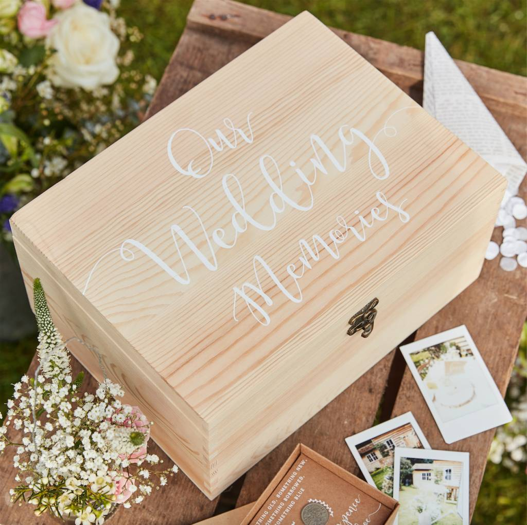 GINGERRAY wooden memory box keepsake - rustic country