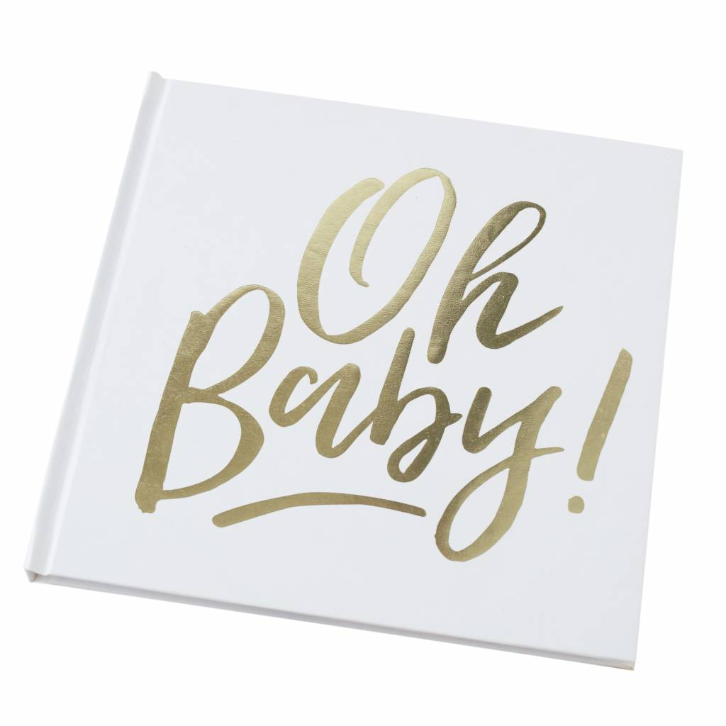 GINGERRAY gold foiled oh baby! guest book - oh baby!