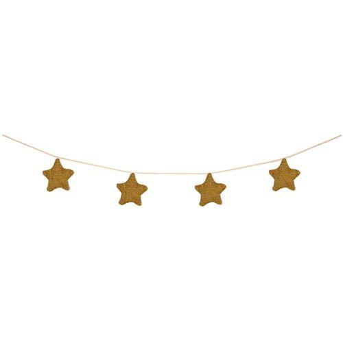 MERIMERI Gold knitted star garland