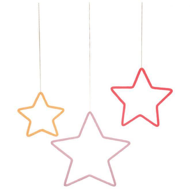 MERIMERI 3 stars wall decoration