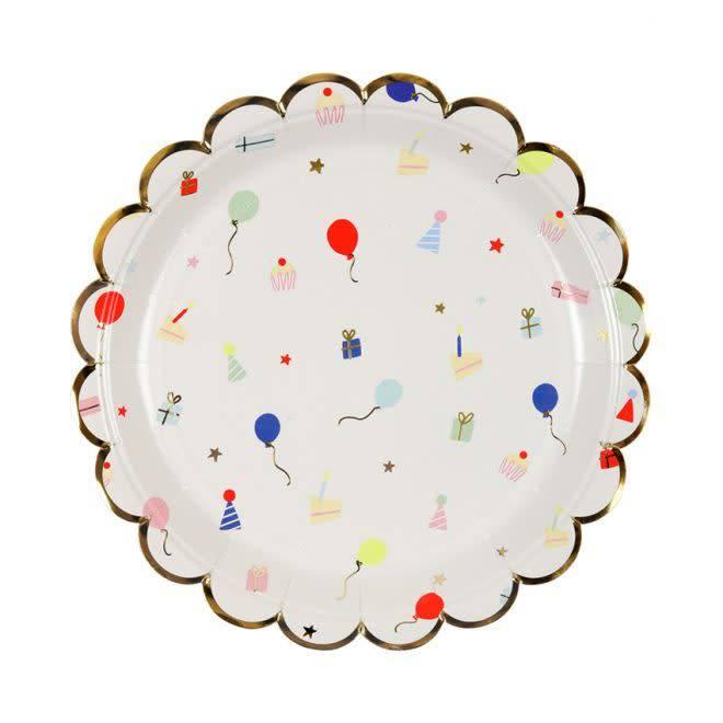 MERIMERI Party icon plates S