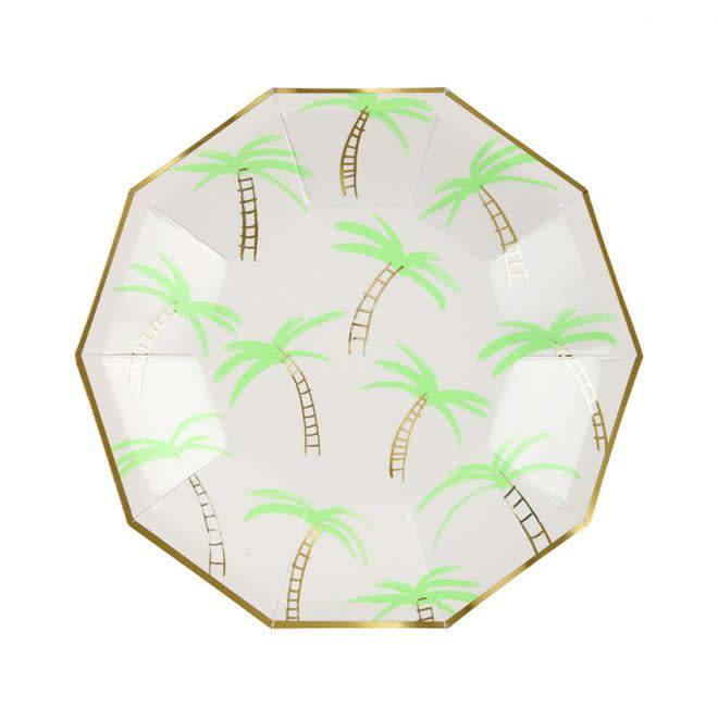 MERIMERI Palm tree plates S