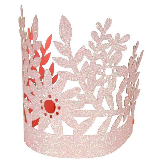 MERIMERI Pink glitter crowns