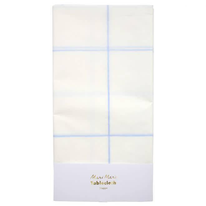 MERIMERI Blue grid tablecloth