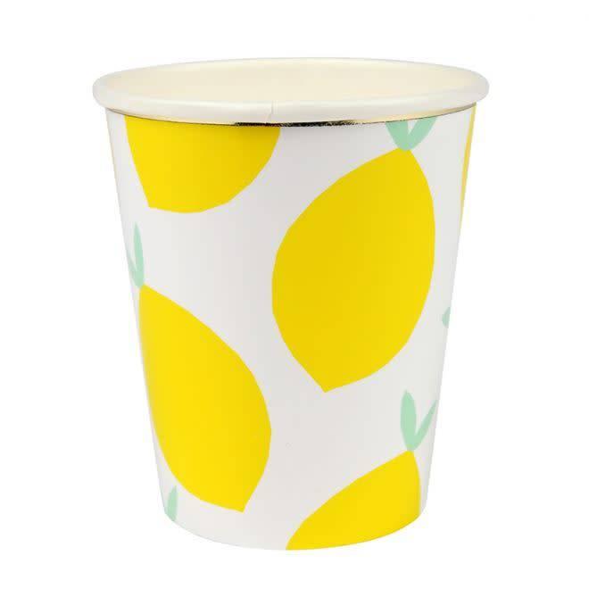 MERIMERI Lemon pattern cups