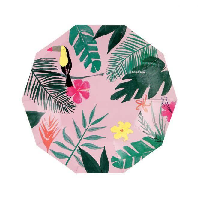 MERIMERI Pink tropical plates S