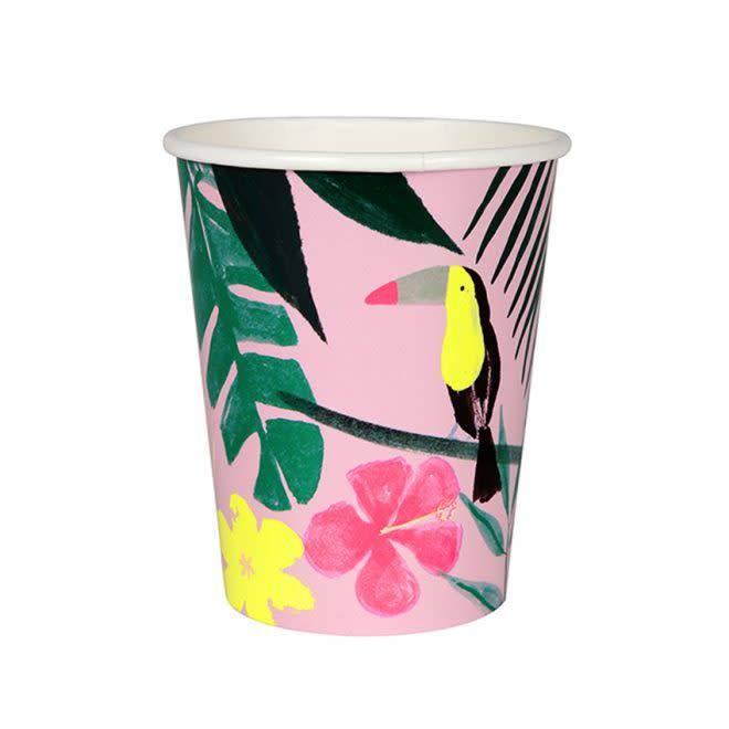 MERIMERI Pink tropical cups