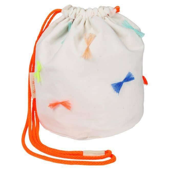 MERIMERI Round bow tassel bag