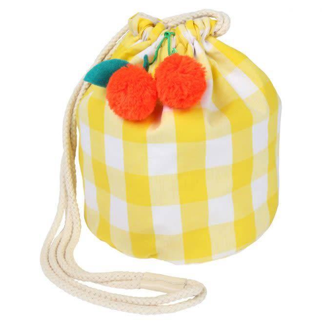 MERIMERI Cherry gingham bag