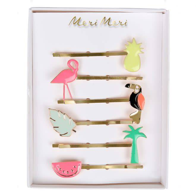 MERIMERI Enamel tropical hair slides