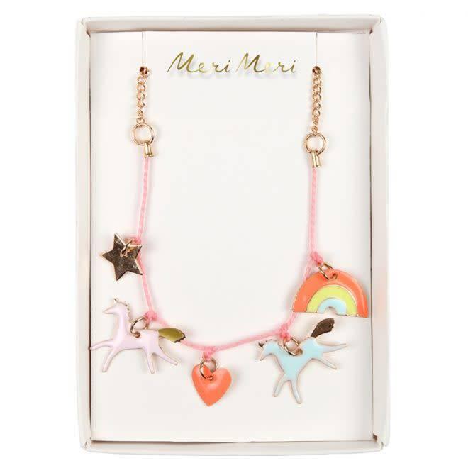 MERIMERI Unicorn enamel necklace