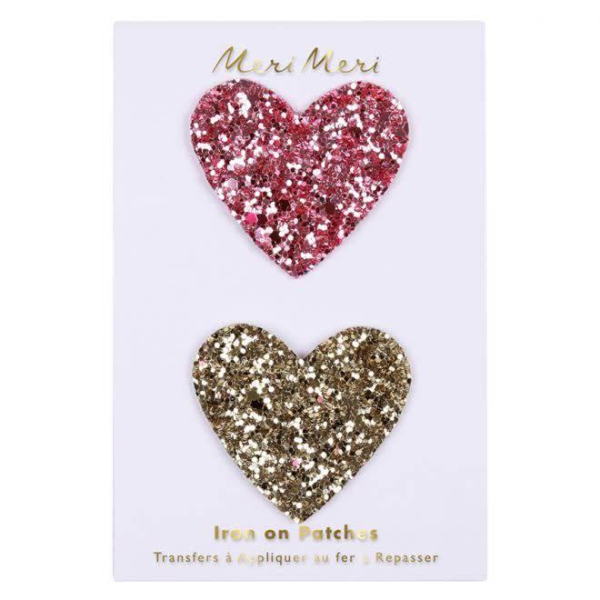 MERIMERI Glitter hearts patches