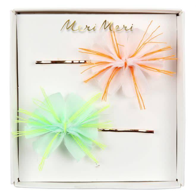 MERIMERI Fabric floral hair slides